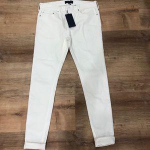 FIVE FOUR white denim skinny fit jeans